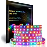 ALITOVE WS2812B Individually Addressable LED Strip Light 5050 RGB 16.4ft 300 LED Pixel Flexible Lamp Tube Waterproof…