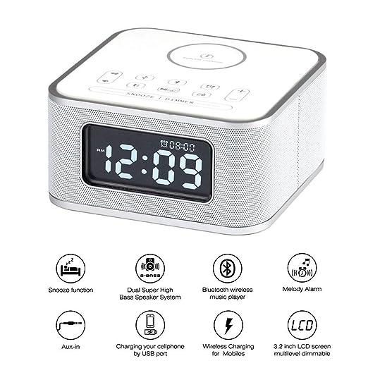 Radio Despertador,Altavoz inalámbrico Bluetooth, reloj ...