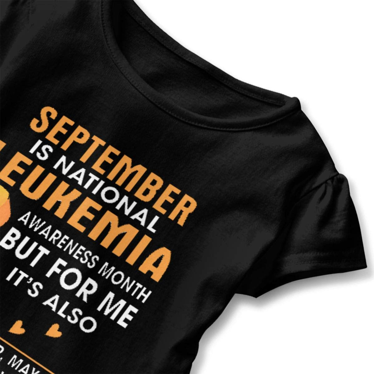 lu fangfangc September is Leukemia Awareness Month T-Shirt Kids Flounced T Shirts Comfort Tops for 2-6T Baby Girls