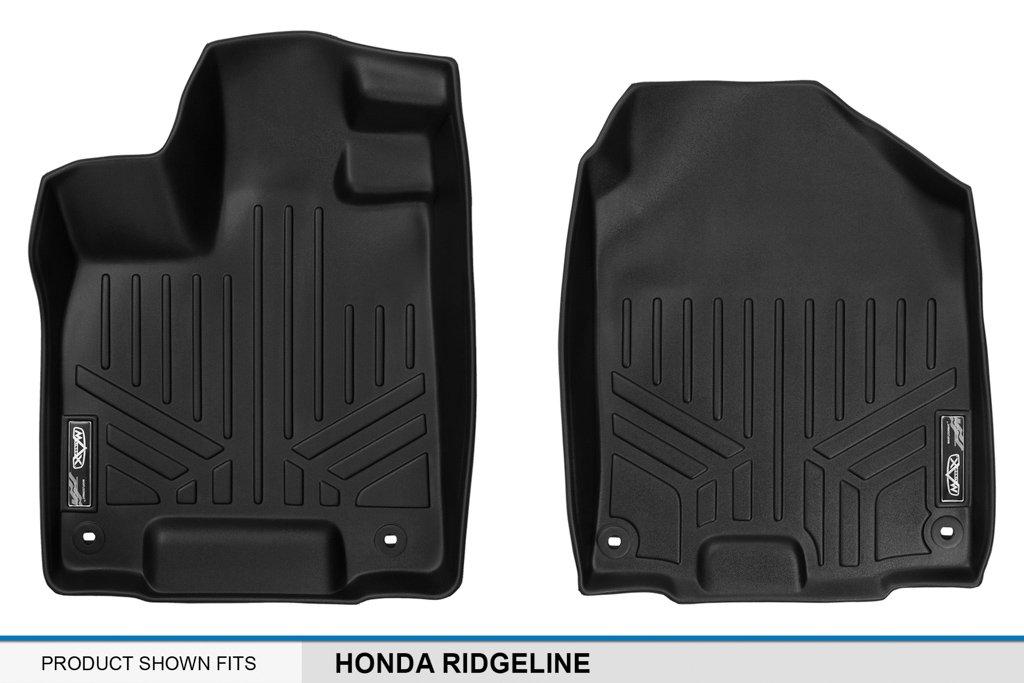 MAXLINER A0240 SMARTLINER Floor Mats 1st Row Liner Set Black for 2017-2019 Honda Ridgeline All Models