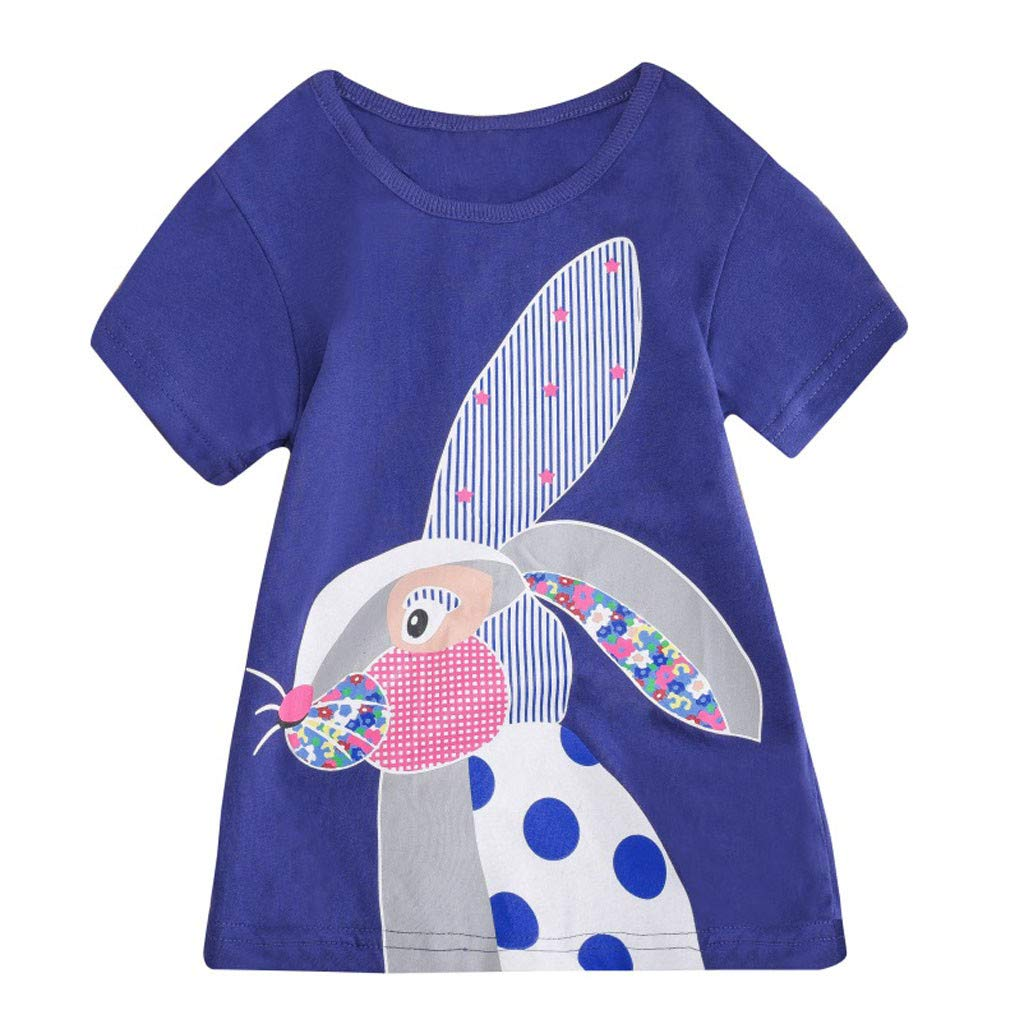 Toddler Kids Baby Boys Girls Clothes Short Sleeve Cartoon Tops T-Shirt Blouse by Sunsee (Image #1)