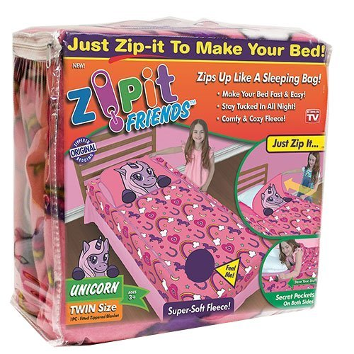 Zipit  Friends Twin Bedding Set, Pink Unicorn