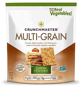 Crunchmaster Multi-Grain Crackers, Garden Vegetable, 4 Oz
