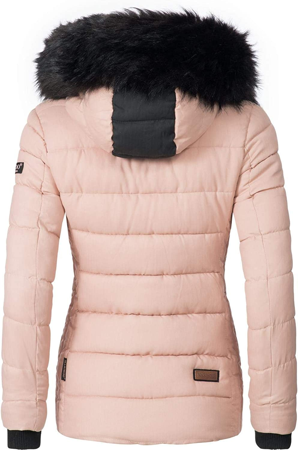 Marikoo Unique Ladies Winter Puffer Jacket XS-XXL Rose