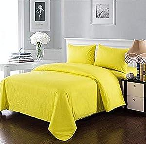 Tache Home Fashion Solid Comforter Bag Bedding Set, King, Yellow