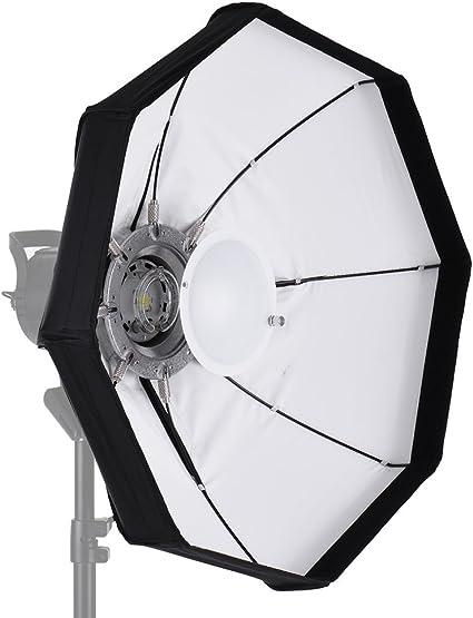 Andoer Caja de Luz Blanca de 60cm Plato Plegable Belleza con Montaje Difusor para Iluminación Fotográfica: Amazon.es: Electrónica