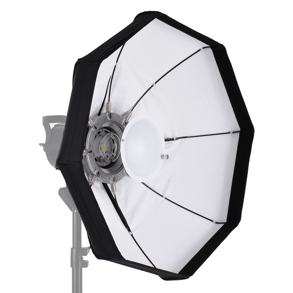 Andoer 8-Pole 60cm Beauty Dish Softbox Octagon with Bowens Mount White Foldable for Studio Strobe Flash Light