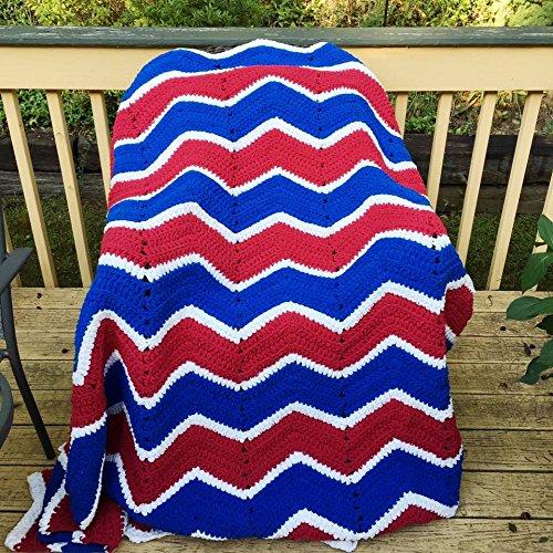 Amazon Kays Crochet Red White Blue Patriot Chevron Afghan