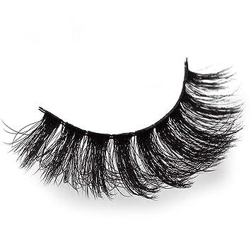 00dd4dc392c 3D Natural Fluffy Soft Mink Glue Adhesive Long Fake Eyelashes Pack Reusable  : Beauty