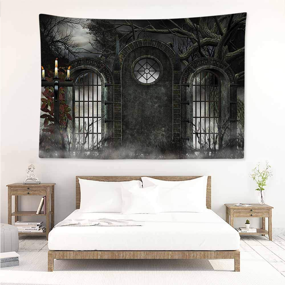 Amazon.com: Sunnyhome Simple Tapestry,Horror House Dramatic ...