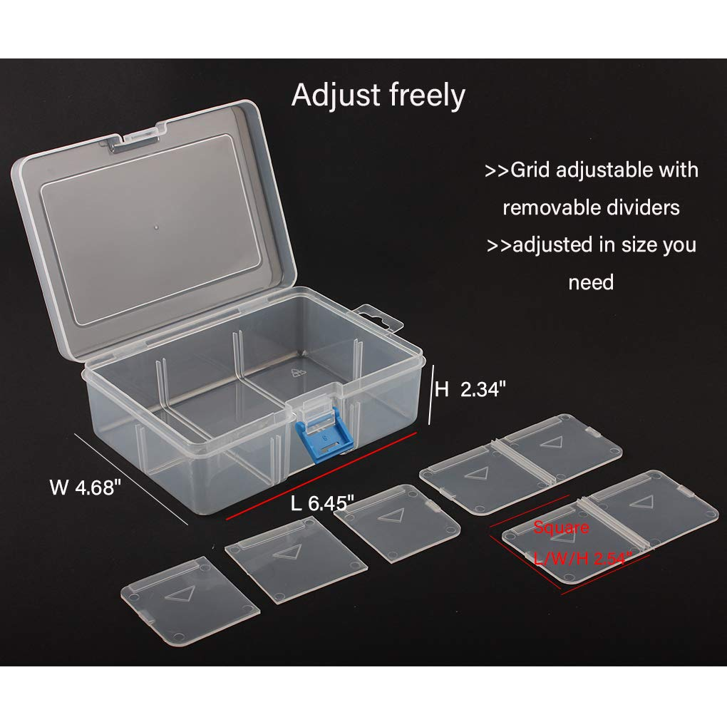 Logic box small parts grid adjustable Desktop and Wall Mount plastic store and organizer case box with dividers for Electronic component//Screws//Bolts//Jewelry//beads//grafts//buttons//coins//pills//fishing