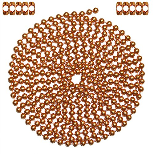 10-foot-length-ball-chain-13-size-copper-10-matching-b-couplings