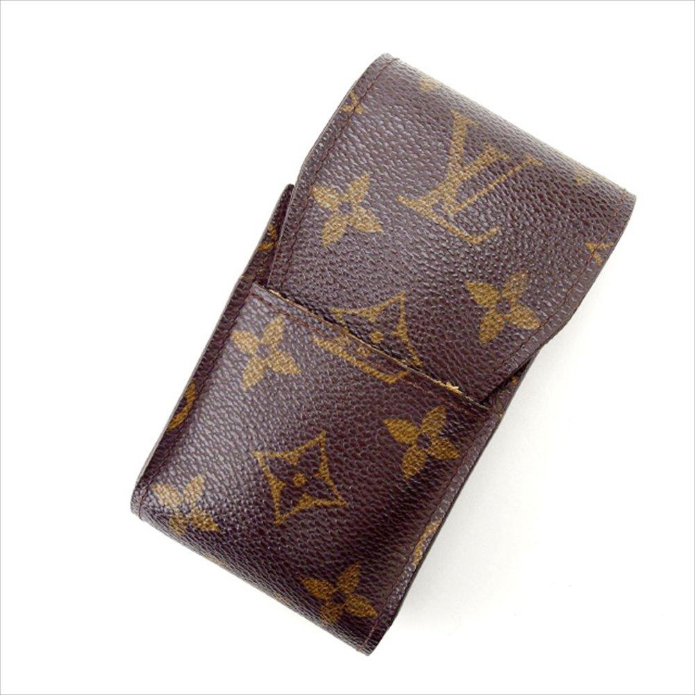 (ルイヴィトン) Louis Vuitton シガレットケース タバコケース ブラウン エテュイシガレット モノグラム レディース 中古 E592   B018JMS7WI