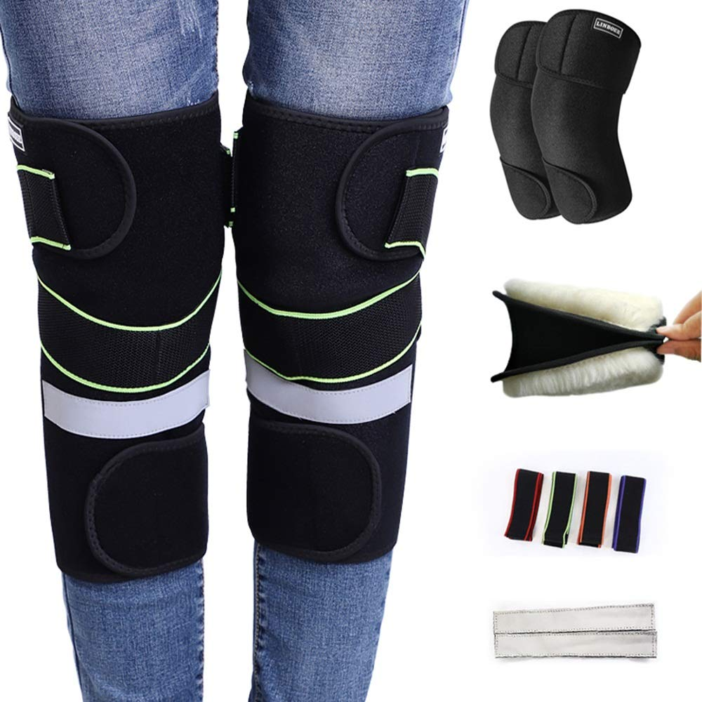 XIAOMEI 膝パッド キッズ膝パッド オートバイ膝パッド 耐寒性保温性 調節可能なストラップ どこにでも適しています 家庭、屋外で使用されます B