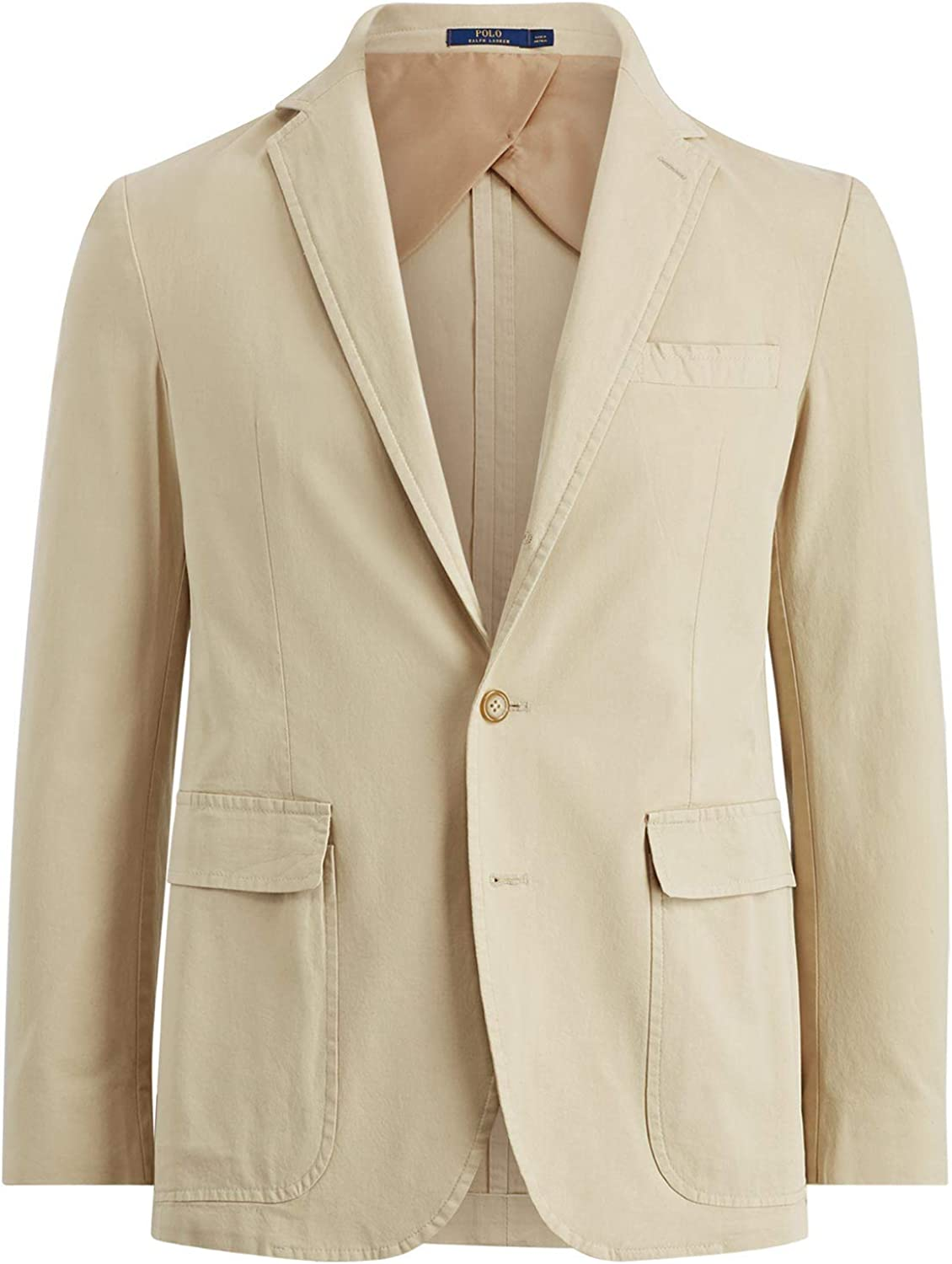 Ralph Lauren Mens Stretch Chino Three Button Blazer Jacket