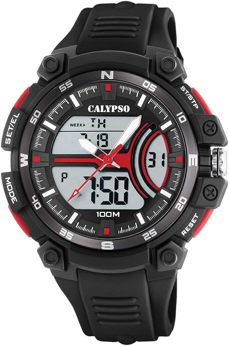 Calypso Watches Reloj Analógico-Digital para Hombre de Cuarzo con Correa en Plástico K5779/6
