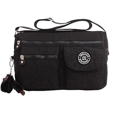 17c8d22b6b Wocharm Vintage Women Tote Messenger Cross Body Handbag Ladies Bag Shoulder  Bag Purse (Black)