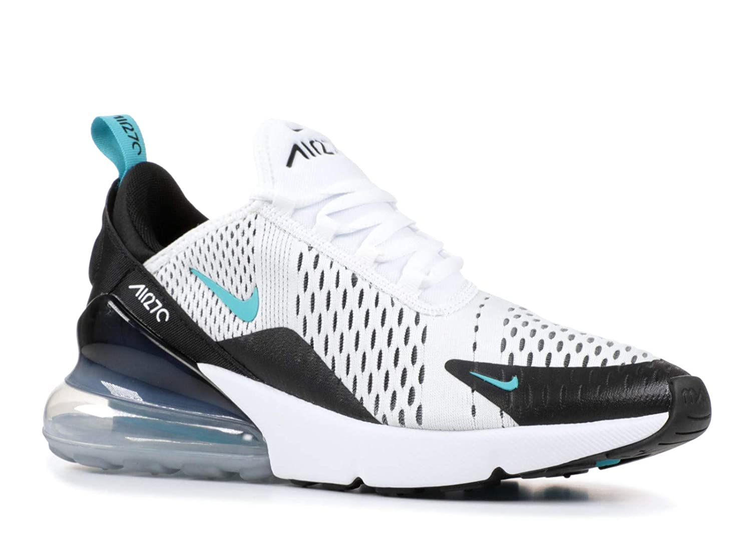 save off 27cf2 bfe44 NIKE Kid's Air Max 270 GS, White/Dusty Cactus-Black, Youth Size 7