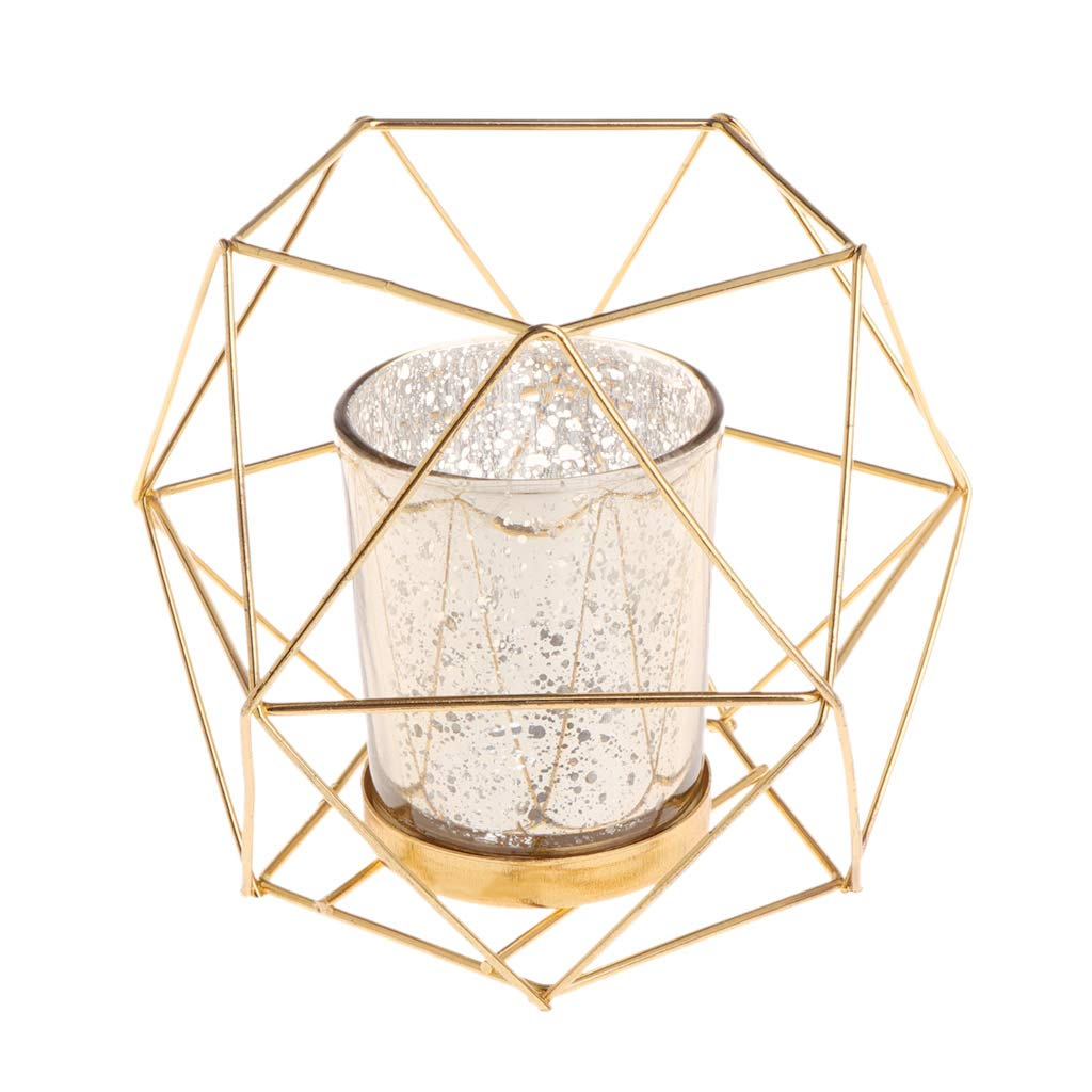 Fogun Nordic Style 3D Geometric Candlestick , Metal Candle Holder, Wedding Home Decor Hot