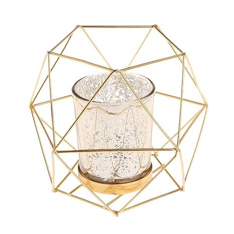 2er Set Draht Geometric Teelicht Kerzenhalter Kerzenhalter Kerzenständer