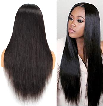 Leeven 360 Lace Frontal Wig Pre Plucked Hairline Premium Virgin Hair Wigs  for Black Women Long 3df03ef04e
