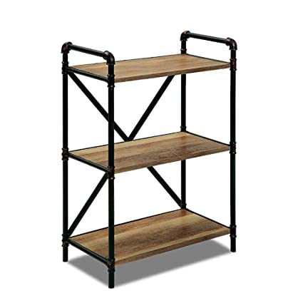 Amazon.com: YONGMEI Modern Wrought Iron Vintage Bookshelf ...