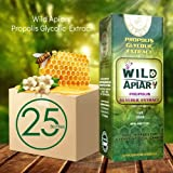 Official distributor - 25 Bottles Wild Apiary Green Bee Propolis Liquid-Alcohol Free, Wax Free, Sugar Free