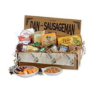 Dan the Sausageman's Denali Gourmet Gift Basket -Featuring Summer Sausage, Wisconsin Cheese and Dan's Quality Chocolate Covered Cherries.