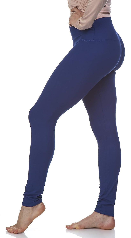 LMB Women's Extra Soft Leggings with High Yoga Waist Pants 40+ Colors Plus Sizes