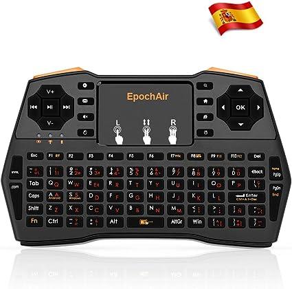 EpochAir Mini Teclado Multimedia Inalámbrico 2.4GHz RF con Touchpad para Smart TV, Android TV Box, PlayStation, XBox, Proyector, PC y Más: Amazon.es: Electrónica
