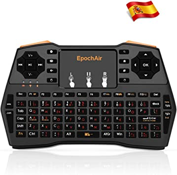EpochAir Mini Teclado Multimedia Inalámbrico 2.4GHz RF con Touchpad para Smart TV, Android TV Box, PlayStation, XBox, Proyector, PC y Más: Amazon.es: Electrónica