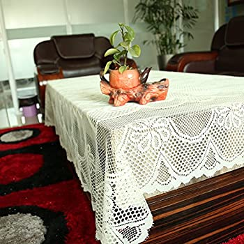 Tablecloth White, Lace Tablecloths, Crochet Tablecloth,Rectangle Knitted By  Meleg Otthon (59