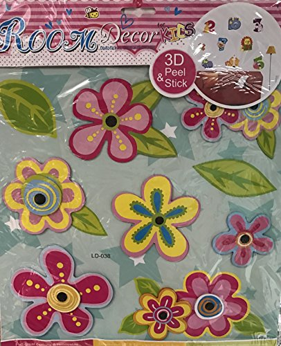 Room Decor for Kids Dimensional Chipboard Stickers 3D Flower
