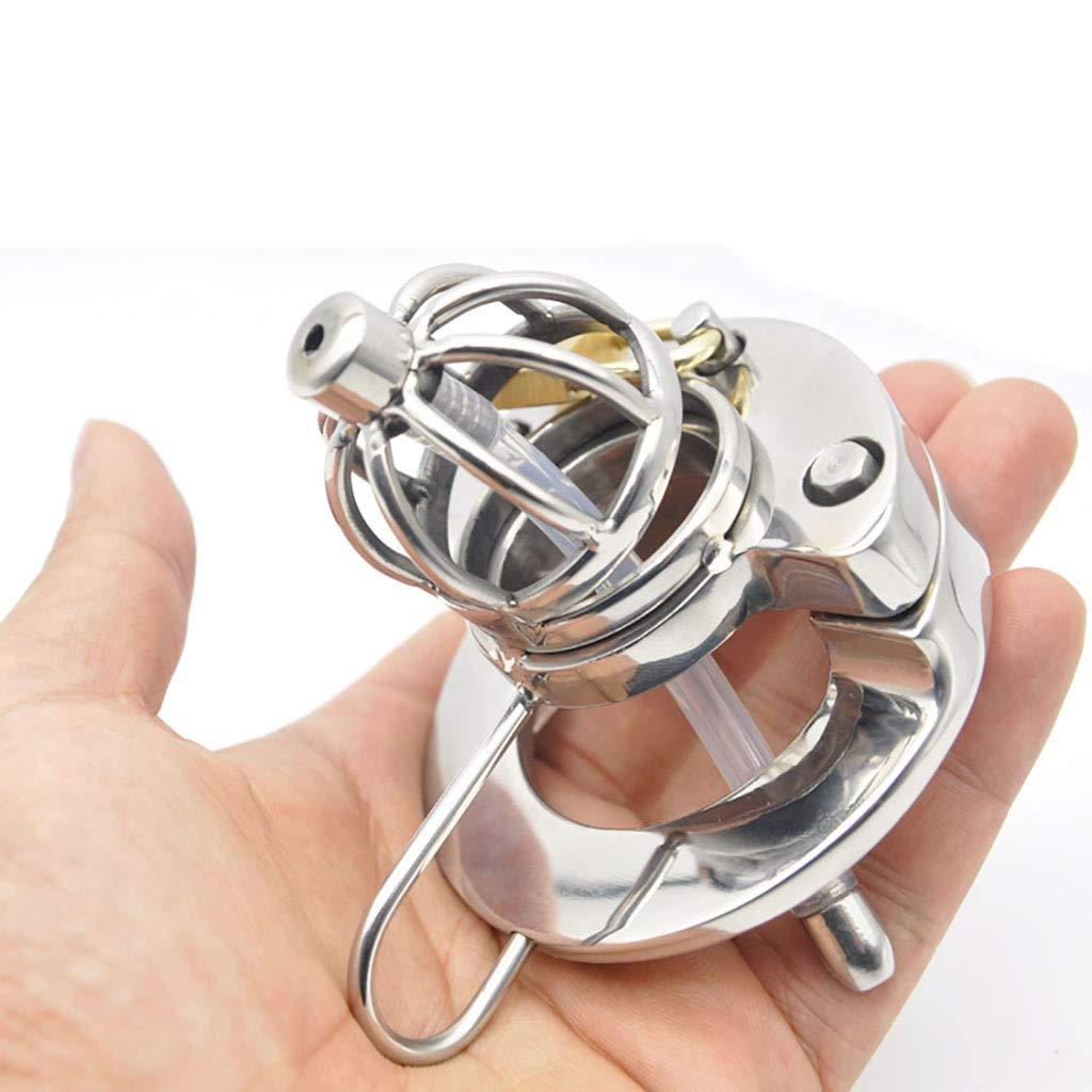 yu,Cinturón de castidad Chastity Chastity, Catheter Chastity Lock With Silicone Catheter Chastity, Open Penis Jaula JJ A289-1 01 (Color : 40mm) 675251