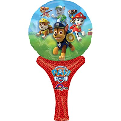 "Mayflower Distributing Paw Patrol Inflate-A-Fun Balloon, 12"", Multicolor: Kitchen & Dining"