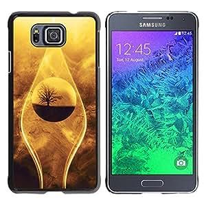 Be Good Phone Accessory // Dura Cáscara cubierta Protectora Caso Carcasa Funda de Protección para Samsung GALAXY ALPHA G850 // Nature Beautiful Drop Tree Sand Desert Oasis