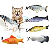 Cat Kicker Fish Toy - Flopping Fish Cat Toy - Cat Wagging Fish Realistic Plush Simulation Electric Doll Fish Plush Toy…