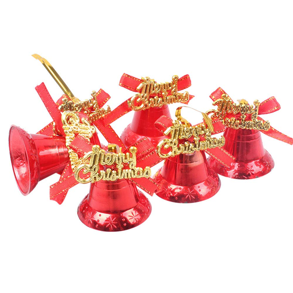 Kimanli Christmastree Hanging Bells Jingle Party Ornaments Christmas Tree Hanging Decor Gifts Hot ! (Red)