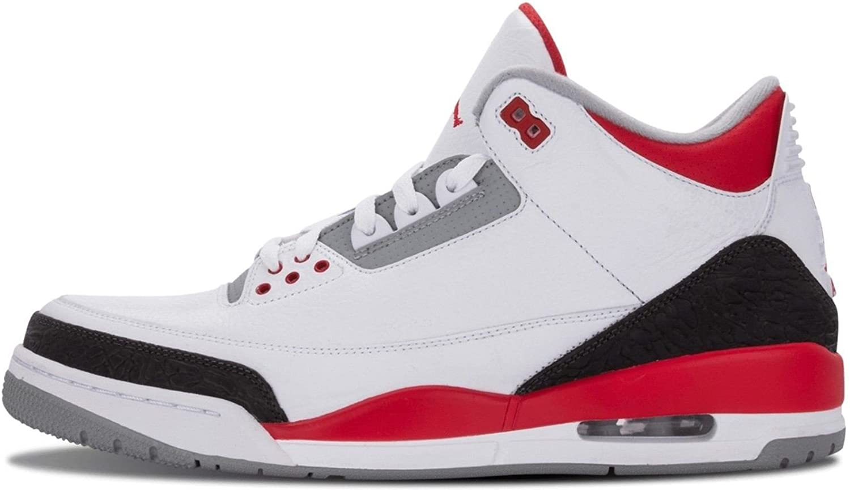 Nike Mens Air Jordan 3 Retro White/Fire