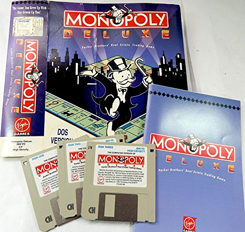 3.5 Inch Game - Monopoly Deluxe DOS Version Virgin Games 3.5