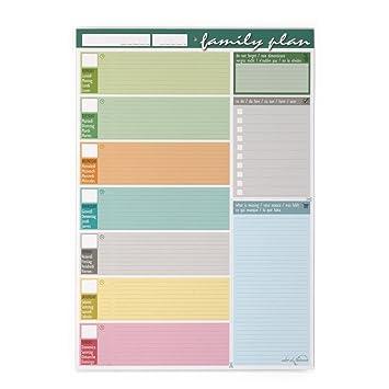 Planner Semanal para la Familia 30 x 42 cm - Agenda Planner ...