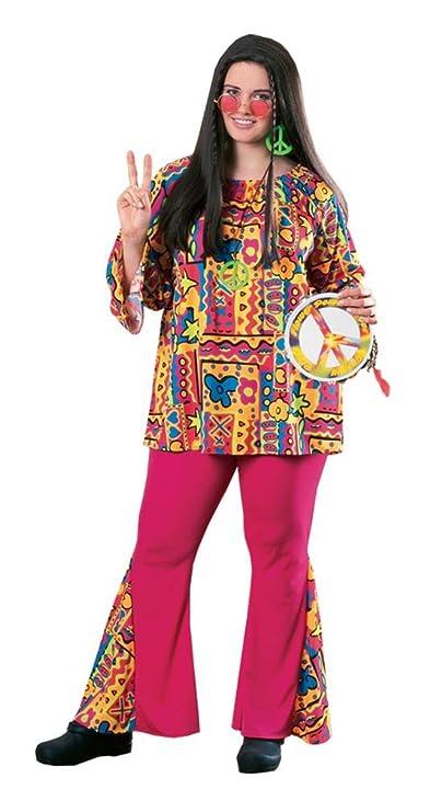 60s Costumes: Hippie, Go Go Dancer, Flower Child, Mod Style Big Hippie Mama Plus Size Adult Costume - Plus Size $33.74 AT vintagedancer.com