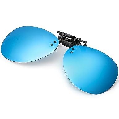 072f371898ed5c Miroir Clip Aviateur Solaire Polarisant pour Lunette Lunettes De Soleil  Homme, 100% Protection Contre