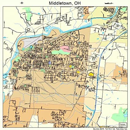 middletown ohio map