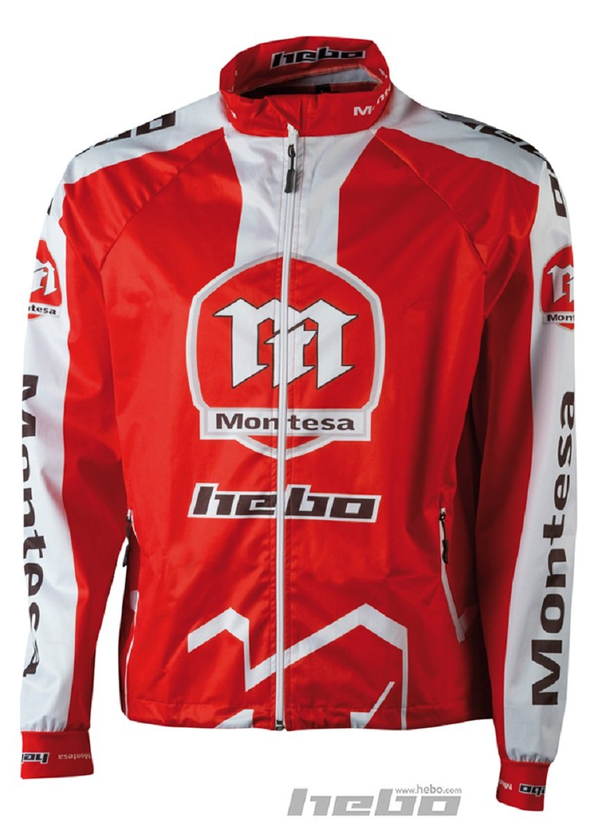 Talla M HEBO HE4248RM Wind Pro Montesa Classic Chaqueta Rojo