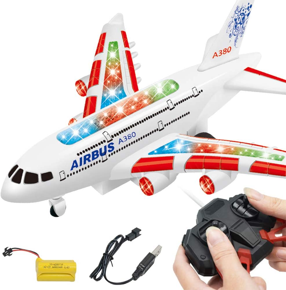 Airbus A380 Airlines Modèle Avion électrique jouet Lumières Sons Enfant Cadeau de Noël
