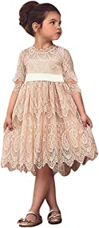 ABASSKY Toddler Kids Baby Girl Lace Flower Princess Tulle Party Pageant Dresses Clothes