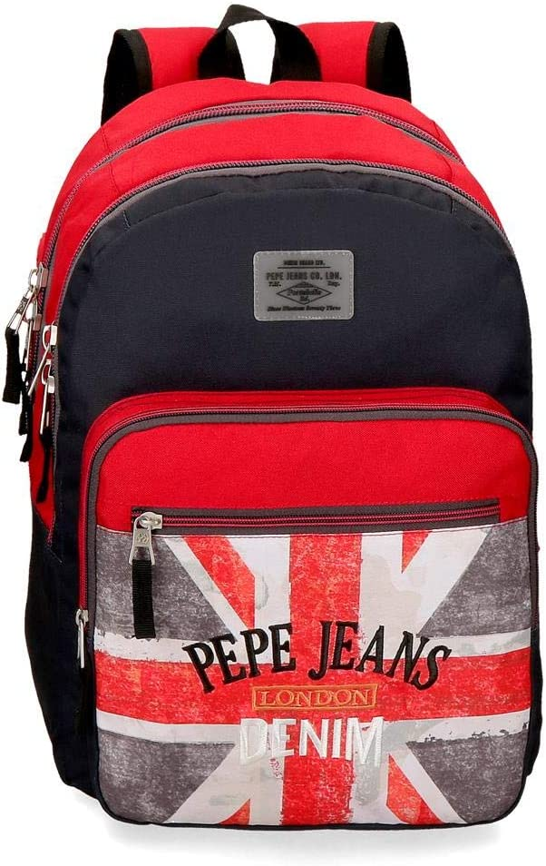 Mochila 46cm Pepe Jeans Calvin doble cremallera adaptable