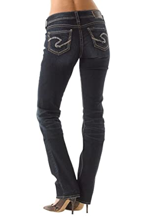 Silver Jeans Women Suki Mid Rise Baby Boot Curvy Fit Stretch in ...