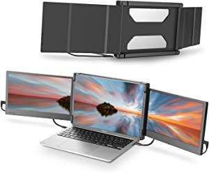 Teamgee Portable Monitor for Laptop, Monitor Extender for Dual Monitor Display,Laptop Screen Laptop Workstation Portable Monitor HDMI/1080p/13-17 inches Mac Windows Chrome Laptop (Triple Monitor)